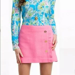 Lilly Pulitzer Hayes Pink Mini Skirt Size 2
